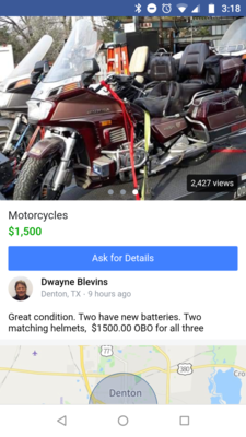 The 2019 Craigslist Thread | Page 7 | Two Wheeled Texans